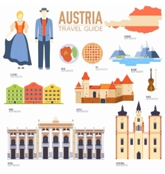 Country austria travel vacation guide of goods vector
