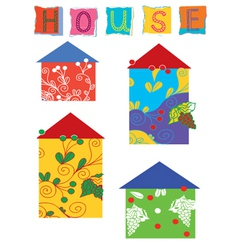 House patches vector