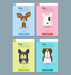 Animal banner with Dog for web design 5 vector image vector image