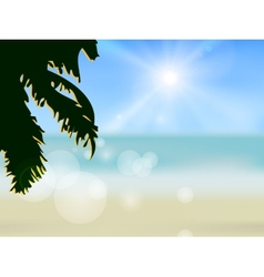 Azure beach vector image