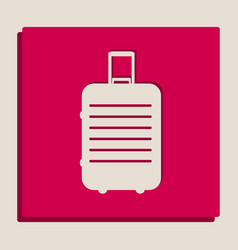 Baggage sign grayscale vector
