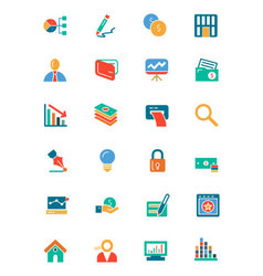 Banking and finance colored icons 6 vector
