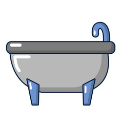 bathtub icon cartoon style vector image