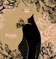 Beautiful girl silhouette vector image vector image