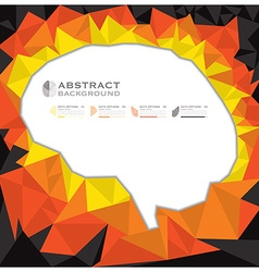 Brain shape geometric abstract background vector