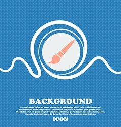 brush icon sign Blue and white abstract background vector image