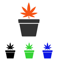 Cannabis pot flat icon vector