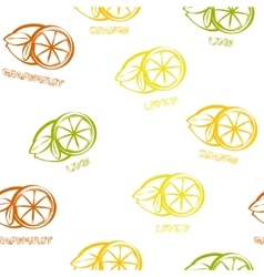 Citrus seamless pattern background vector