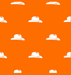 cowboy hat pattern seamless vector image vector image