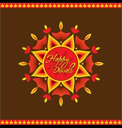 Creative happy diwali greeting card design vector