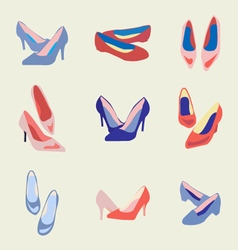 fashion womens shoes vector image vector image