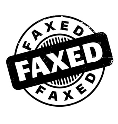 Faxed rubber stamp vector