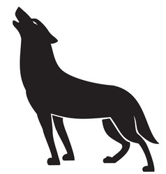 howling wolf silhouette vector image