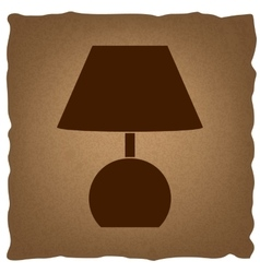 Lamp sign Vintage effect vector image