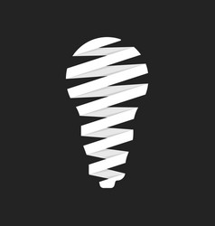 Led bulb icon like origami vector