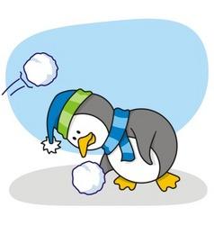 little penguin 2 vector image vector image