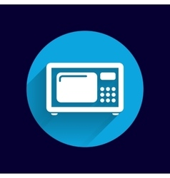 Microwave icon kitchen equipment electronics vector