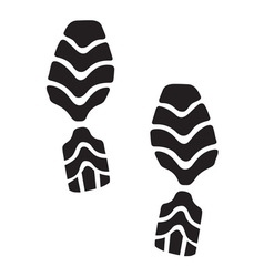 New foot print2 resize vector image