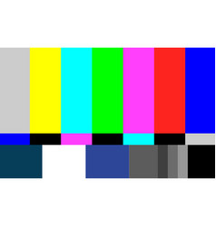No signal tv test pattern television vector
