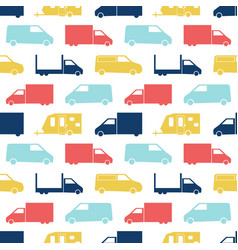 Retro truck seamless pattern vector
