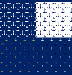 seamless marine pattern with anchor vector image vector image
