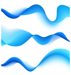 Set of blend waves vector image