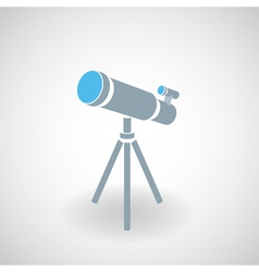 Simple icon of 3d telescope vector image