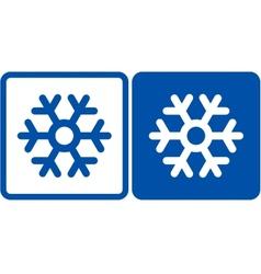 Snowflake sign vector