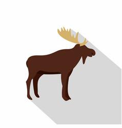 wild elk icon flat style vector image