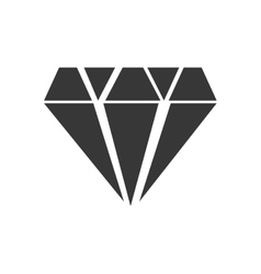 Diamond gem jewelry silhouette icon vector