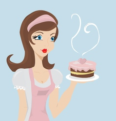Lady baker vector