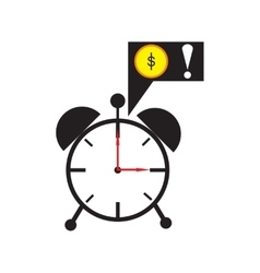 Modern flat icon alarm clock on white background vector