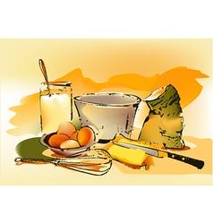 Baking ingredients vector image