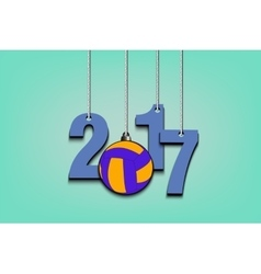 Volleyball and 2017 hanging on strings vector