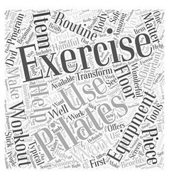 Pilates exercise equipment word cloud concept vector