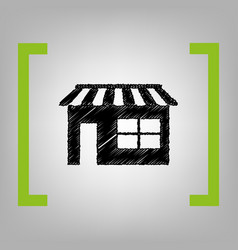 store sign black scribble vector image