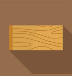 Wooden plank icon flat style vector