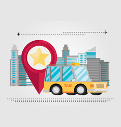 Taxi car modern flat creative info graphics vector