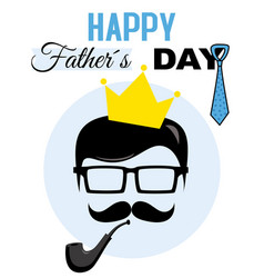 Hipster dad card vector