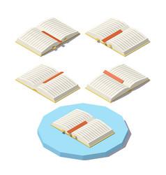 Isometric open book vector