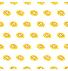 Seamless pattern summer beach frisbee background vector