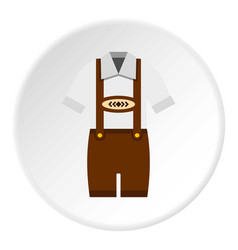 Traditional bavarian men suit icon circle vector