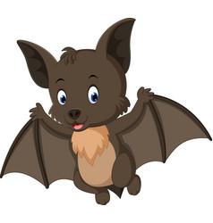 Bat cartoon flying vector