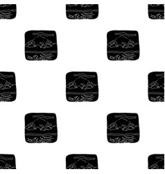 Canadian waterfall canada single icon in black vector