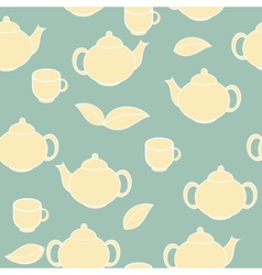 Tea seamless pattern background vector