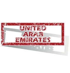 United arab emirates outlined stamp vector