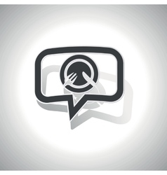 Curved meal message icon vector image