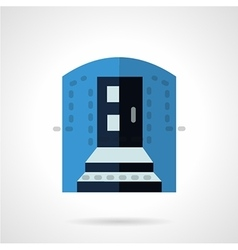 Blue color entrance flat icon vector