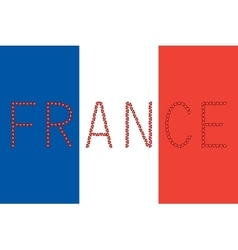 French flag and word france from hearts vector