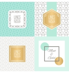 Set of line patterns and linear frames vector
